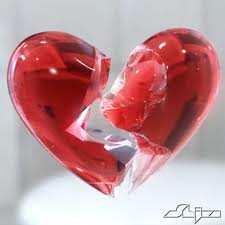 glass broken  heart